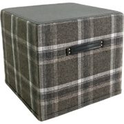 1898-8 Gallery 29 Ottman Plaid Ottoman