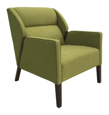1761-1 Gallery 66 Lounge Chair Green Lounge
