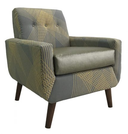 1749-1 Gallery 68 Lounge Chair Grey Lounge
