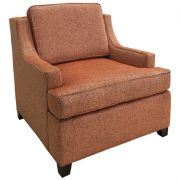 1742-1 Gallery 71 Lounge Chair Red Lounge